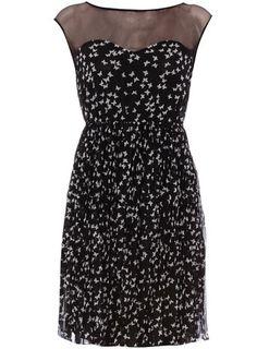 Black butterfly print dress $12
