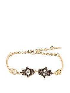 www.myhabit.com  Shimmering, 18K gold-plated, double Hamsa design with sparkling Swarovski Elements