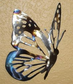 Butterfly! I like! Pewter art idea EML    http://www.iron-artz.com/content/images/thumbs/0000418_butterfly_metal_wall_art.jpeg