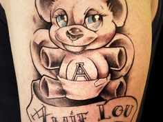 25 Sweet Teddy Bear Tattoos - SloDive