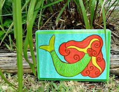 Mermaid Beach Sign hand painted by LuckiiArts on Etsy, $24.00