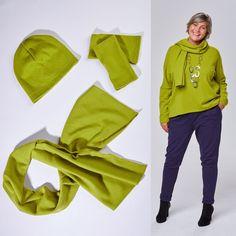 Pullover, Mütze, Schal und Stulpen - alles aus feiner Merinowolle in vielen Farben im Shop - Schaut gleich vorbei www.ostedesign.de Faire Mode - Made in Germany ✔ Pullover, Wrist Warmers, Linen Fabric, Colors, Sweaters, Sweater