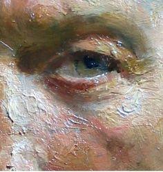 Detalle de óleo de ojo: Una obra de arte de gran definición.