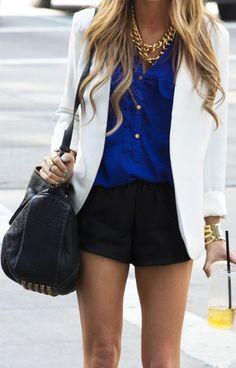 Spring Fashion Trends: White Blazer & Dress Shorts