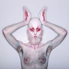 29 Spine-Chilling Halloween Costumes to DIY For Scary Cheap Evil Bunny Creepy Makeup, Clown Makeup, Halloween Face Makeup, Horror Makeup, Zombie Makeup, Sfx Makeup, Costume Makeup, White Rabbit Makeup, Bunny Makeup