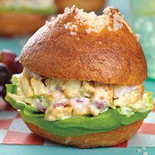 Maple Mustard Chicken Salad Sandwiches: King Arthur Flour