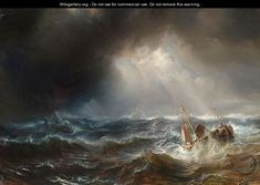 Shipping In A Storm - Theodore Gudin - WikiGallery.org, the largest gallery in the world
