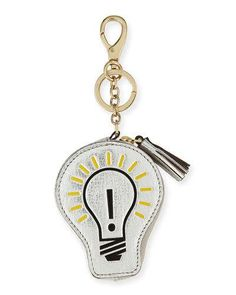 Light Bulb Coin Case, Silver