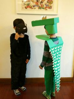 Black Panther and Mr Croc... #black panther costume #crocodile costume #visual…
