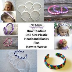 Headband Blanks and Woven Headbands for 18 Inch Dolls | YouCanMakeThis.com