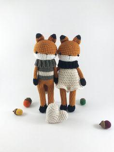 Crochet Fox Doll Amigurumi Fox Stuffed Animal Crochet by MossyMaze