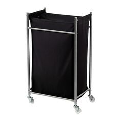 IKEA - GRUNDTAL, Laundry bin with casters, , The laundry bag does not absorb moisture or odors from the laundry because it is made of polyester. Ikea Laundry, Laundry Bin, Laundry Hamper, Laundry Cart, Ikea Grundtal, Laundry Basket On Wheels, Rolling Laundry Basket, Laundry Sorting, Ikea Shopping