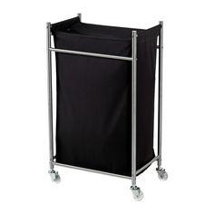 GRUNDTAL Laundry bin with casters - IKEA