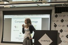 Anna, our CEO, at Lions Cage event at Google Campus in London.