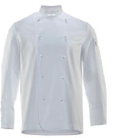 Chaqueta para cocineros, chaqueta profesional con botones forrados tejido en poliéster/algodón de primera calidad, bolsillo en hombro. Personalizadas con bordados. http://www.grupotextil-bataspersonalizadas.net/chaquetas/48-chaqueta-de-cocina-manga-larga-30212.html