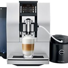 Jura Aluminum Automatic Coffee, Cappuccino and Espresso Maker Jura Espresso, Espresso Maker, Cappuccino Coffee, Cappuccino Machine, Jura Coffee Machine, Coffee Center, Coffee Equipment, Great Coffee, Drip Coffee Maker