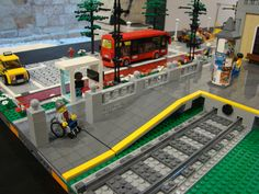 Lego City Train, Lego Trains, Gare Lego, Lego Road, Lego Technic Truck, Lego Village, Lego Winter, Lego Kits, Lego Pictures