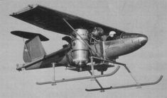 Bell Model 65 ATV  First free hover Jan. 1954 (Air Test Vehicle)