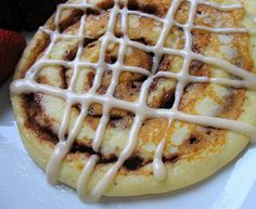 Cinnamon roll pancakes! I'm in heaven!