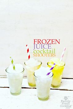 Frozen Juice Cocktail Shooters | FamilyFreshCooking.com