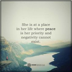 She is at a plac in her life where peace is her priority and negativity cannot exist. Higher Perspective. Inner peace. Intentional living. Zen.