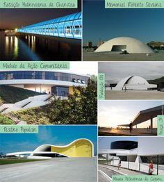 """""""Caminho Niemeyer"""" de Niterói, cartões postais."""