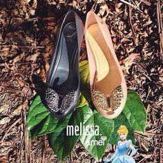 Melissa fume transparente e bege perolado ✨ #cinderela #lojaamei #melissa #melisseiras #princesa
