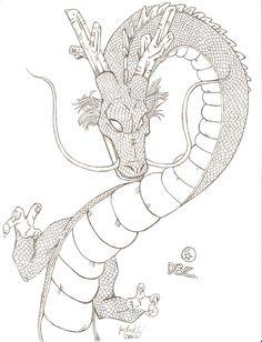 Hand drawn Shenron Dragon Ball Z