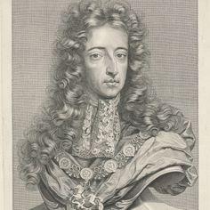 Portret van Willem III, prins van Oranje-Nassau, koning van Engeland, Pieter van Gunst, naar Jean Henri Brandon, 1689 - 1731 - Rijksmuseum