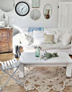Coastal Decorating with Round Natural Fiber Rugs -Shop the Look