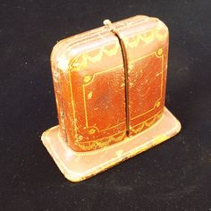 antique brown stand up cartier jewelry box new york paris london - Stand Up Jewelry Box