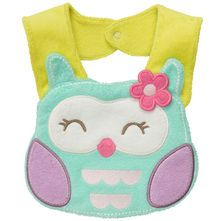Baby will stay comfy and dry during teething in this owl terry teething bib. Super absorbent cotton keeps baby's clothes clean. Burp Rags, Burp Cloths, Carters Baby Girl, My Baby Girl, Couture Bb, Teething Bibs, Baby Girl Accessories, Baby Owls, Baby Sewing