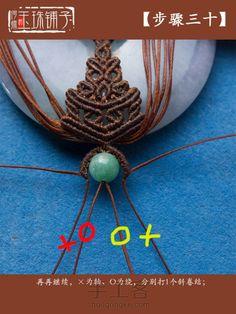 【紫韵】——梯形花纹巧妙设计 第41步 Macrame Necklace, Macrame Jewelry, Macrame Bracelets, Macrame Tutorial, Diy Rings, Micro Macrame, Photo Tutorial, Ring Bracelet, Knots