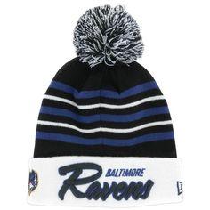 New Era Ravens Snow Stripe Knit Cap at holabirdsports.com d3b49581c67b