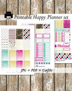 50%OFF SALE!!!/Hot Pink Mint Gold Planner Stickers/Happy Planner Stickers/Printable Planner Stickers/Planner Stickers Printable/Weekly set von DesignStickerStore auf Etsy https://www.etsy.com/de/listing/385549586/50off-salehot-pink-mint-gold-planner