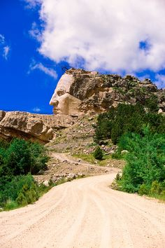 Crazy Horse Memorial in Black Hills, South Dakota.