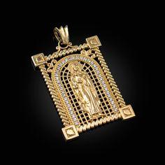 14K White Gold Heart CZ Pendant Height 10 MM Width 12 MM