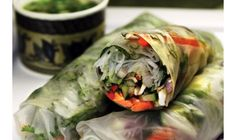 Soft Spring Rolls with Smoked Salmon and Fresh Basil