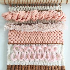Weaving Woven Wall Hanging by Rachel Denbow of Smile and Wave DIY.