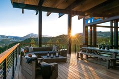 A homeowner at the Yellowstone Club takes advantage of a challenging site with commanding views.