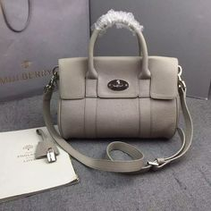 e32f556cb768 New Color!S S 2016 Cheap Mulberry Outlet UK-Mulberry Small Bayswater  Satchel in Granny Classic Grain Calf