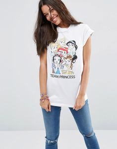 ASOS+Boyfriend+T-Shirt+With+Disney+Team+Princess+Print