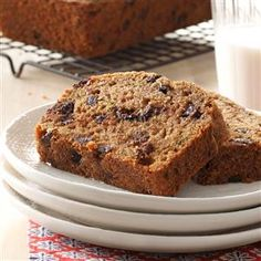 Zucchini Chip Loaves Recipe -This bread has won many ribbons at our fall fair. The recipe yields two nicely spiced loaves—one for eating and one for sharing. I like to make it for family and friends. —Chantelle Ross, Forest Grove, British Columbia