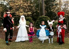 Awesome Family of Six Alice in Wonderland Group Costume... This website is the Pinterest of costumes