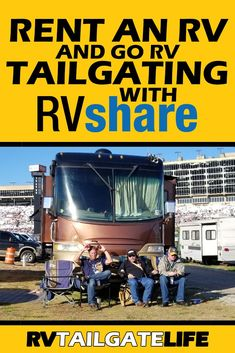 Don't have an RV and still want to go RV tailgating? Find out how you can rent an RV from RVShare and even have it delivered straight to your tailgating spot - no driving needed! More great tips to make your first RV Tailgate a complete success! Travel Hack, Rv Travel, Adventure Travel, Travel Tips, Rent Rv, Go Camping, Family Camping, Rv Rental, Rv Hacks
