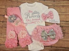 baby girl coming home outfit, baby girl clothes, newborn, baby girl, take home outfit, personalized, hospital outfit, newborn girl clothes