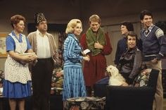 Ron Howard, Henry Winkler, Marion Ross, Tom Bosley, Joyce Brothers, Erin Moran and Anson Williams at event of Happy Days (1974)