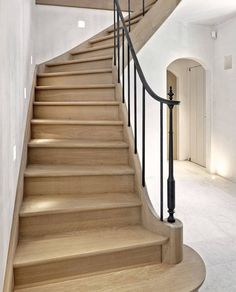 All Iron Railing Railing Design, Staircase Design, Staircase Railings, Stairways, Iron Handrails, Caribbean Homes, Wrought Iron Stairs, House Stairs, Stairway To Heaven