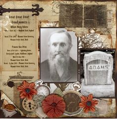 Family Stories, pg. 1 ~ Great genealogical page with detailed dates and gravestone photos.