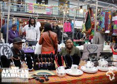 Traders at the African market in Old Spitalfields, London  #market #london #trading